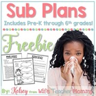 Sub Plans for Substitute Mini Lessons FREEBIE. Elementary Grades.