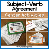 Subject Verb Agreement Task Cards - {SCOOT}