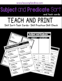 Subject and Predicate Sorting Activity Pack