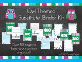 Substitute Teacher Binder - Owl Theme