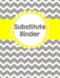Substitute Binder {Editable} - Fun and Fearless in First
