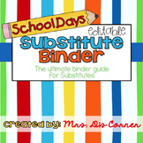 Substitute Binder - School Days Theme - Ultimate Binder Gu
