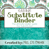 Substitute Binder { Teal Mosaic } - The Ultimate Sub Tub B