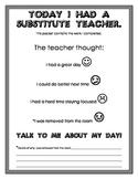 Substitute Teacher Work Packet Cover