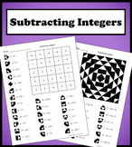 Subtracting Integers Color Worksheet