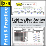Subtraction Action with Number Lines