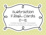 Subtraction Flash Cards: 0-12 Facts