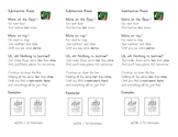 Subtraction Poem Bookmarks ~ Steps for Regrouping Across Z
