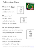 Subtraction Poem Poster ~ Steps for Regrouping