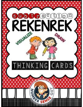 Subtraction Rekenrek Thinking Cards