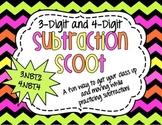 Subtraction Scoot - 3.NBT.2 , 4.NBT.4 - 3-Digit and 4-Digi