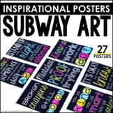Subway Art Poster Set {Black and Bright Set}