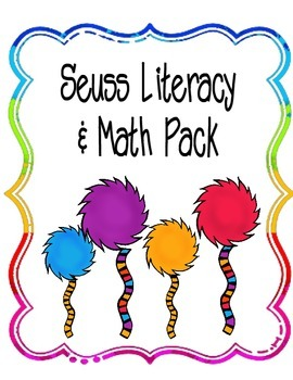 Suess Math and Literacy Pages