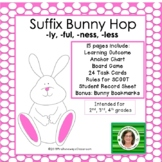 Suffix Bunny Hop - A File Folder game.