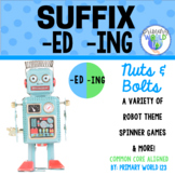 """Suffix  """"-ing"""", """"-ed""""  Nuts and Bolts, A Variety of Robot"""