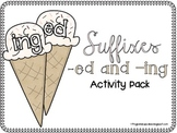 Suffixes -ed and -ing Activity Pack