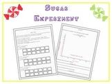 Sugar Nutrition Experiment Activity & Graph ~ Fun Lesson t
