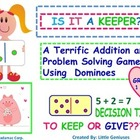 Addition Facts To 12 With Problem Solving Game FREEBIE