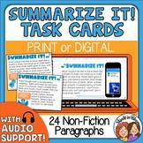 Summarizing Task Cards