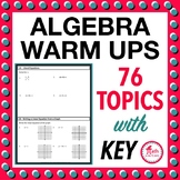 Summer Algebra Review