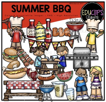 Summer BBQ Clip Art Bundle