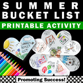 Summer Bucket List Interactive Notebook Summer School Acti