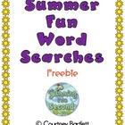 Summer Fun Word Searches