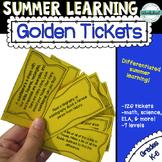 Summer Golden Tickets--Simple Summer Learning Program!