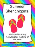 Summer Literacy and Math Centers
