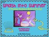 Summer Math Craftivity: Multiplication and Division