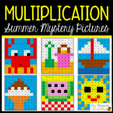 Summer Math Fun - Multiplication Mystery Pictures Activity