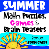 Summer Math Games Puzzles and Brain Teasers