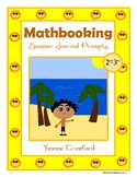 Summer Math Journal Prompts (2nd and 3rd grade)