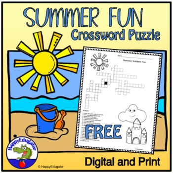 Summer Outdoor Fun Crossword Puzzle