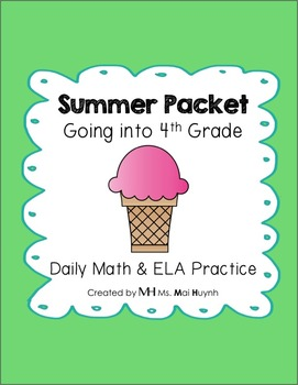 Summer Packet: Going into 4th Grade