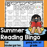 Summer Reading Bingo for Kindergarten going to First Grade