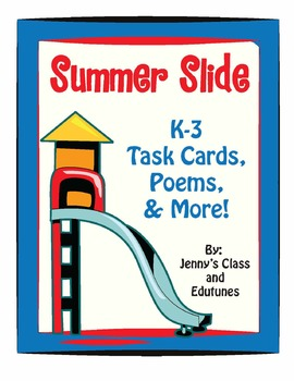 Summer FREEBIE: Task Cards & Good-Bye Poems for Students L
