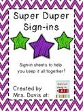 Super Duper Sign-Ins