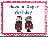 Super Hero Birthday Bulletin Board
