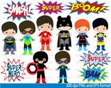Super Hero Clip Art school halloween decor comic book birt