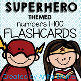 Super Hero Number Flashcards