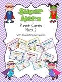 Super Hero Punch Card Pack 2