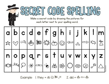 Super Secret Code Spelling