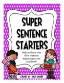 Super Sentence Starters