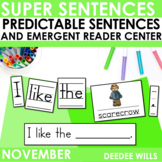 Super Sentences: Predictable Sentences for Fall