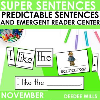 Super Sentences: Predictable Sentences for Fall