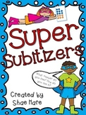 Super Subitizers {Number Sense} Work Station Subitize Comm