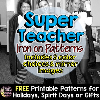 Super Teacher Halloween Costume Iron-on Patterns
