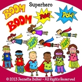Superhero Clip Art by Jeanette Baker