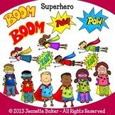 Superhero Clip Art by Jeanette Baker